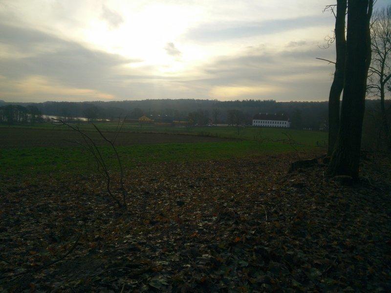 View towards the castle.