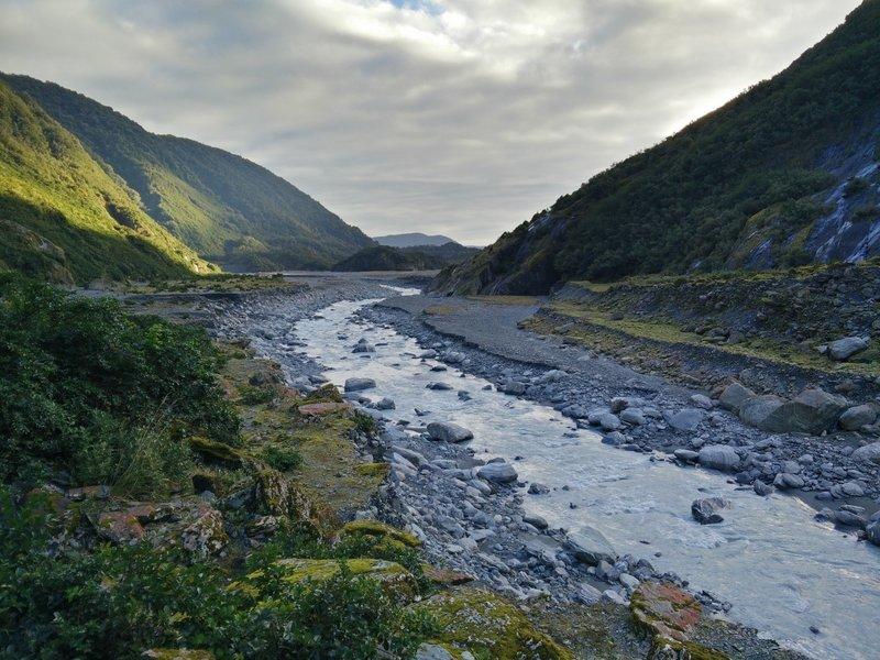 Waiho River at Franz Josef Glacier.