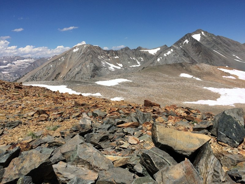 Top of Baxter Pass, looking northwest-ish.