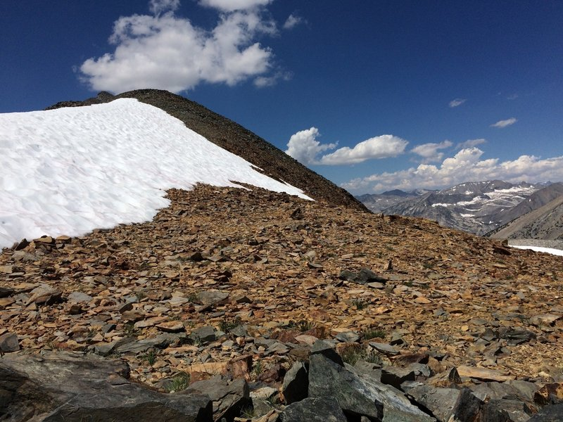 From top of Baxter Pass, looking west
