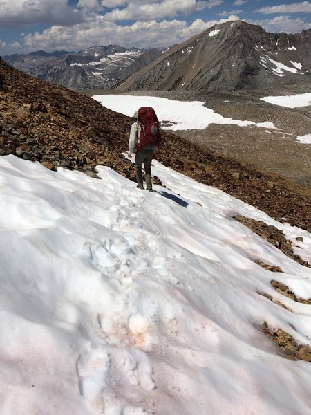 Starting to head down from Baxter Pass toward the JMT.