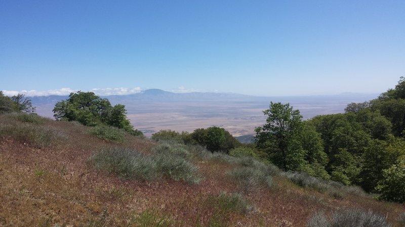 Mojave Desert and the Tehachapi Range.