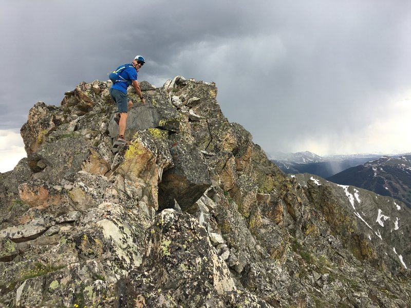 Navigating the crux between Peaks 2 and 3