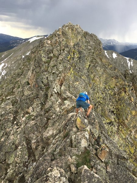 Navigating some scramble between Peaks 2 and 3, like a boss/gymnast.