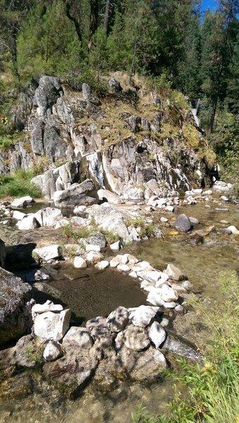 A nice hot springs on Dash Creek.