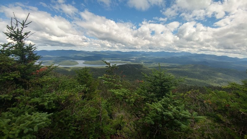 View of the High Peaks region from the top of McKenzie Mountain.