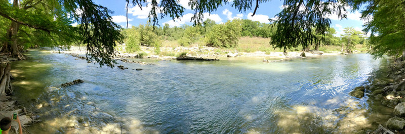 Nice view of the Guadalupe River from the south end of the Bald Cypress Trail.