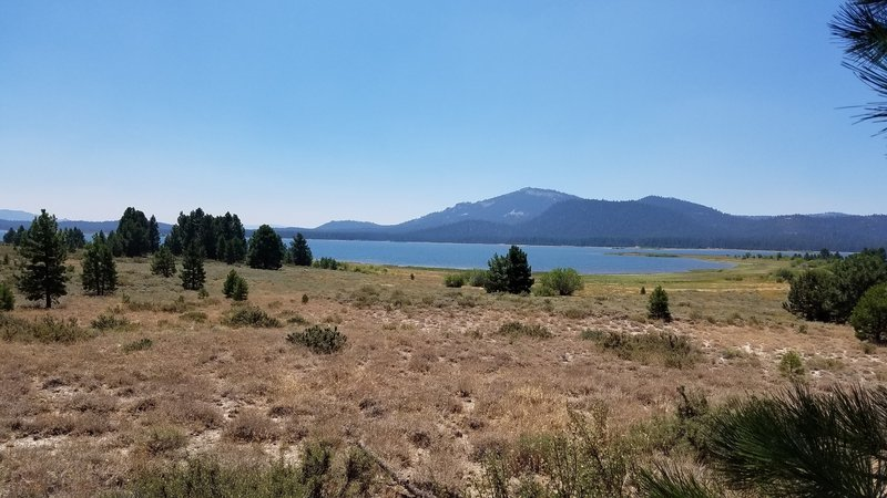 View of Lake Davis from trail.