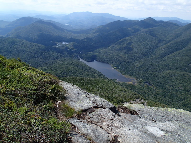 False summit, view of Lake Colden