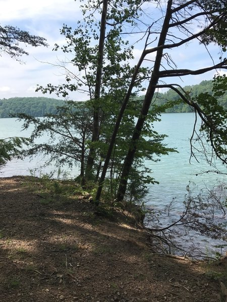 The Lakeview Trail gets pretty close to the water at some points.