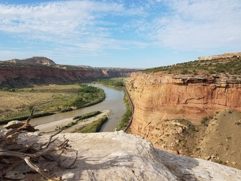 On top of plateau looking down the Colorado River