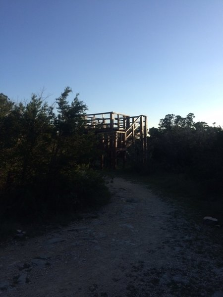 Observation Tower at high point on trail