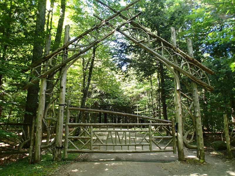 Gate to Lake Road.