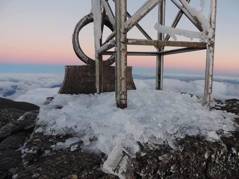 Ice on the summit.