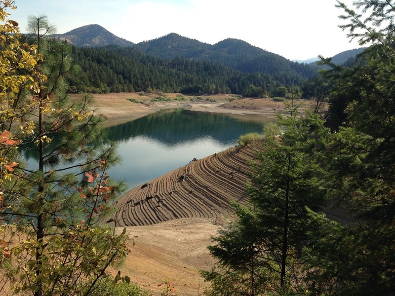 Drought-stricken lake from Payette Trail