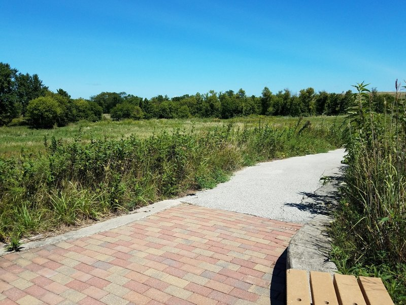 There are plenty of benches along the Tallgrass Trail for visitors to rest, and simply enjoy the view.