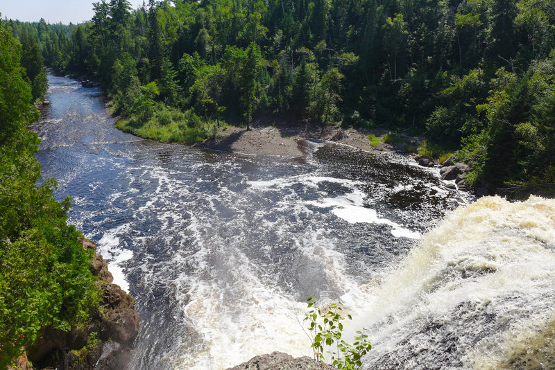 The top of High Falls - be careful!!
