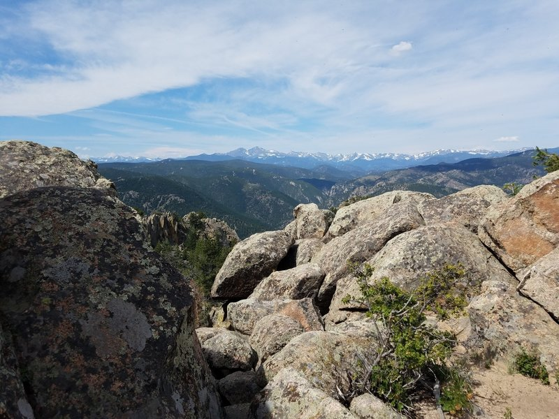 Views of the Continental Divide from the summit of Palisade Mountain.