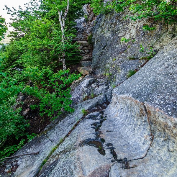 One of the early rock ledges.