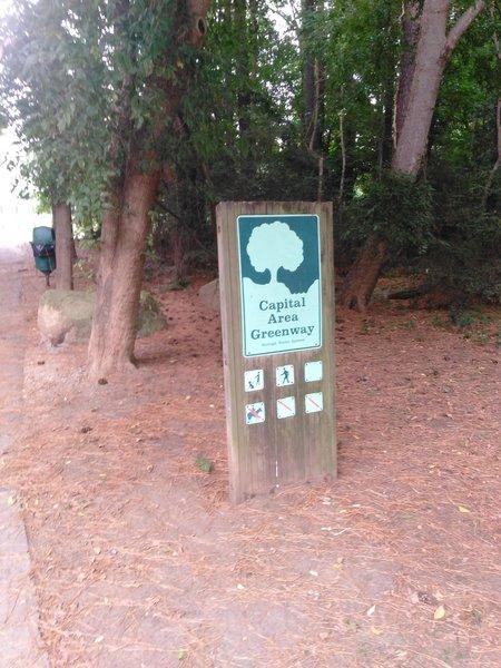 Capital Area Greenway Trailhead at Kiwanis Park