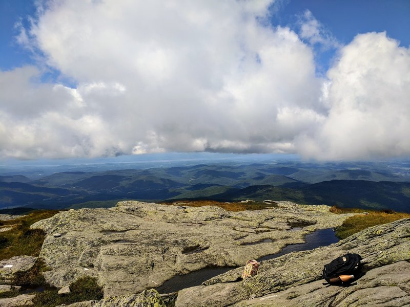 A view from the peak of Camel's Hump