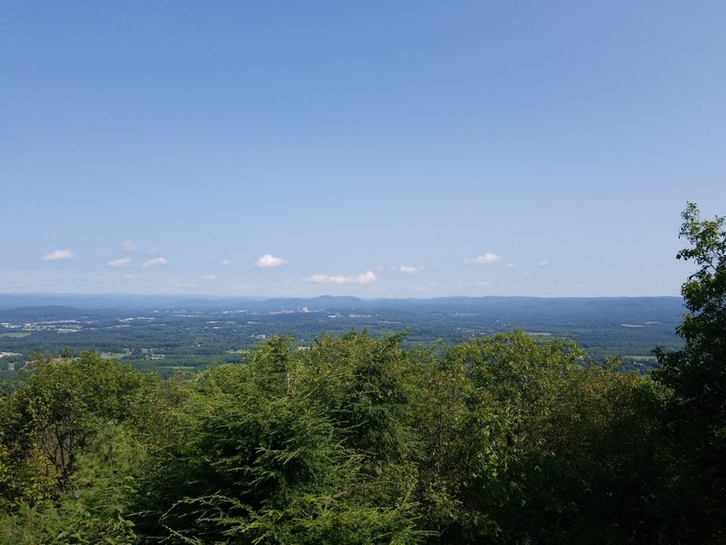 View north from Mt. Norwottock summit.