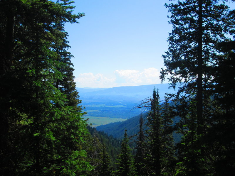 The view from the final descent on Arrow Trail.