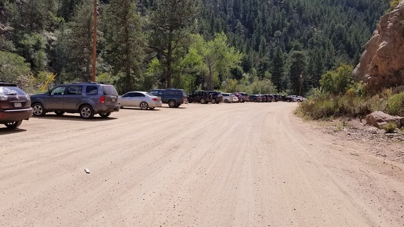Parking at the trailhead