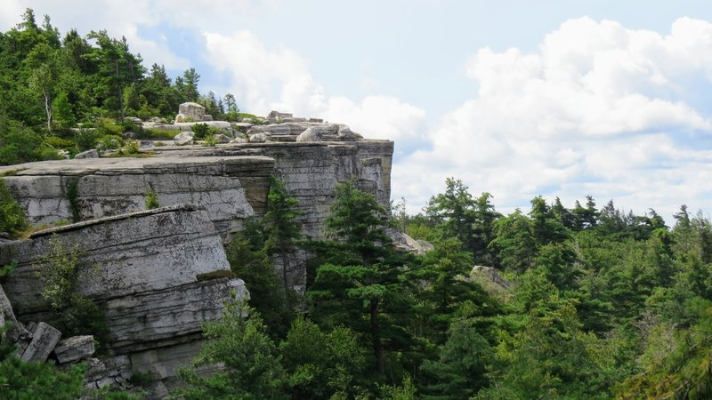 One of the many great cliff ledge's in the Shawangunk's of New York