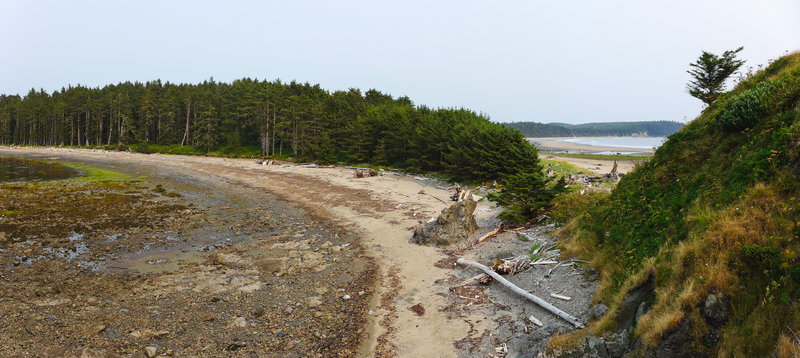 The north side of Sand Point (the rocky side)
