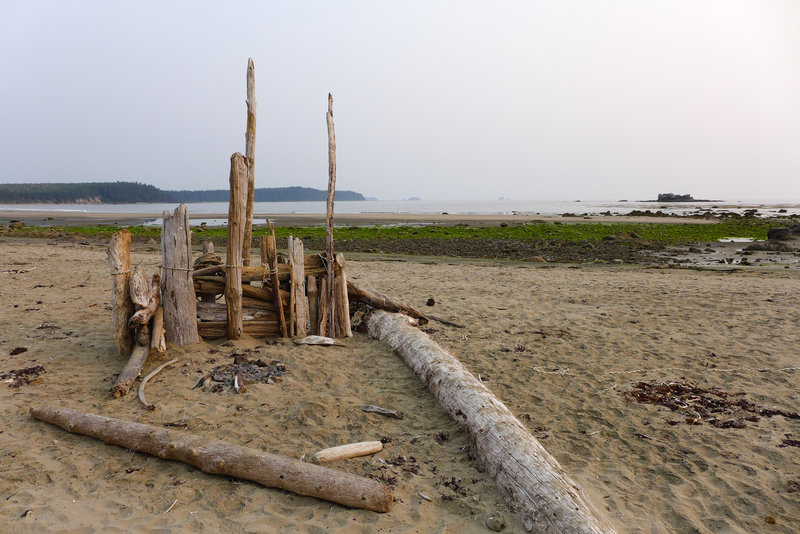 Sand Point is full of fun driftwood structures