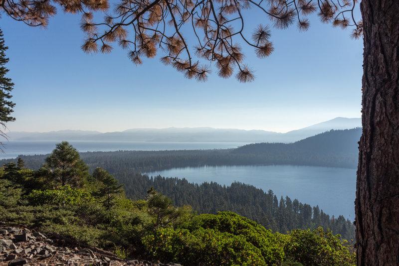 Fallen Leaf Lake and Lake Tahoe.