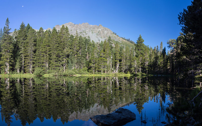 Amazing reflection of Mount Tallac in Floating Island Lake