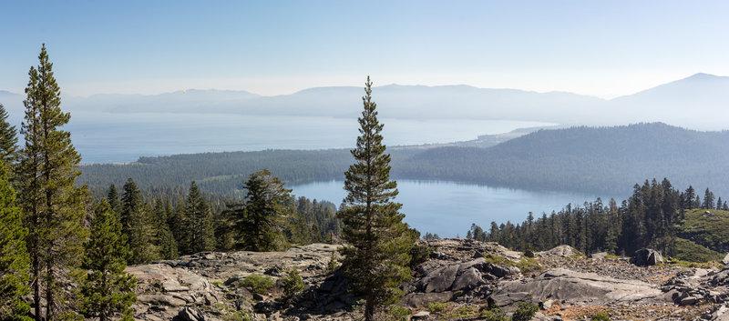 Overlooking Lake Tahoe and Fallen Leaf Lake