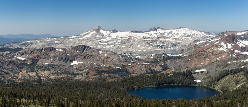 Gilmore Lake and Susie Lake from Mount Tallac