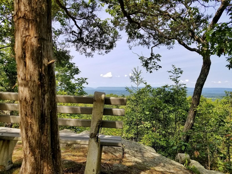 Bench at a beautiful overlook