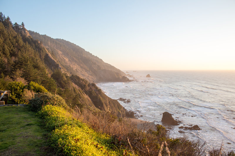 Bluffs from Crescent Beach Overlook