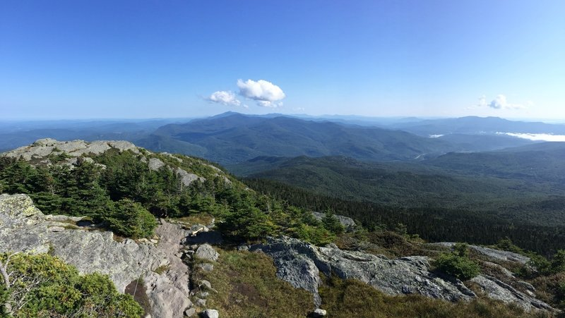 Off the summit of Camel's Hump.