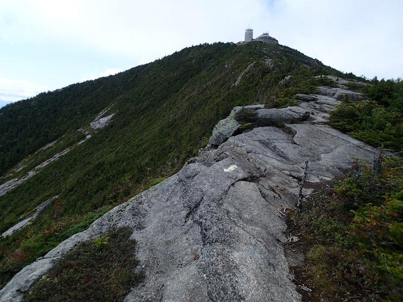 Exposed summit ridge