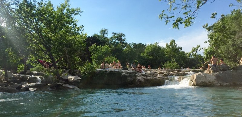 Can't beat Barton Creek for splashing around on a warm day ! It is always better on the weekdays.