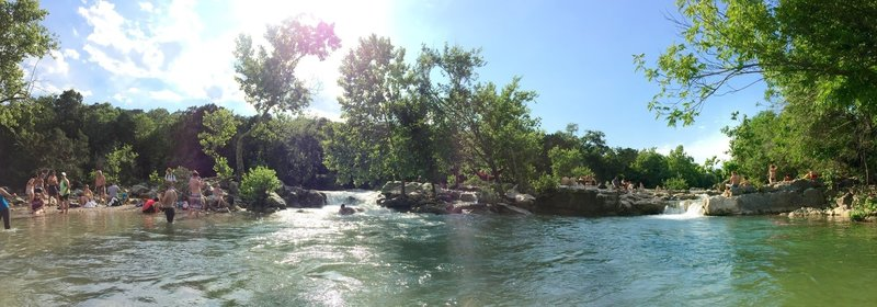 Barton Creek is lots of fun. Keep a good eye on your dogs and kids when playing the little waterfalls :)