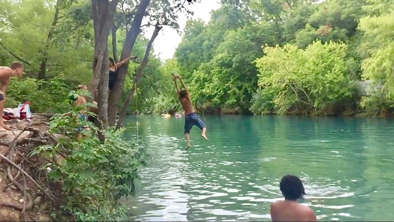 Zilker Park finger of Barton Creek...between the spring and the Barton Springs Rd bridge...always a great free swimming hole !