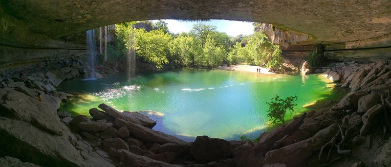 Hamilton Pool.... minus the crowds .... in the off season.  This is a great short trail just about anytime of the year... after summer crowds are gone is best  :)