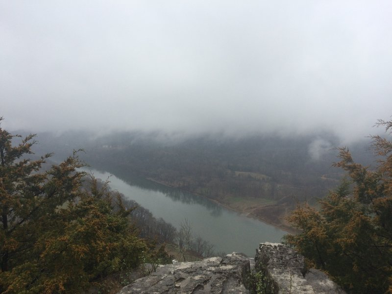 Enjoy this view from the bluffs along the White River Bluff Loop.