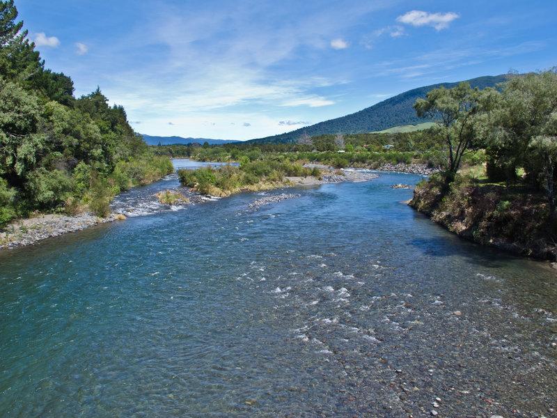 View of the Tongariro River.