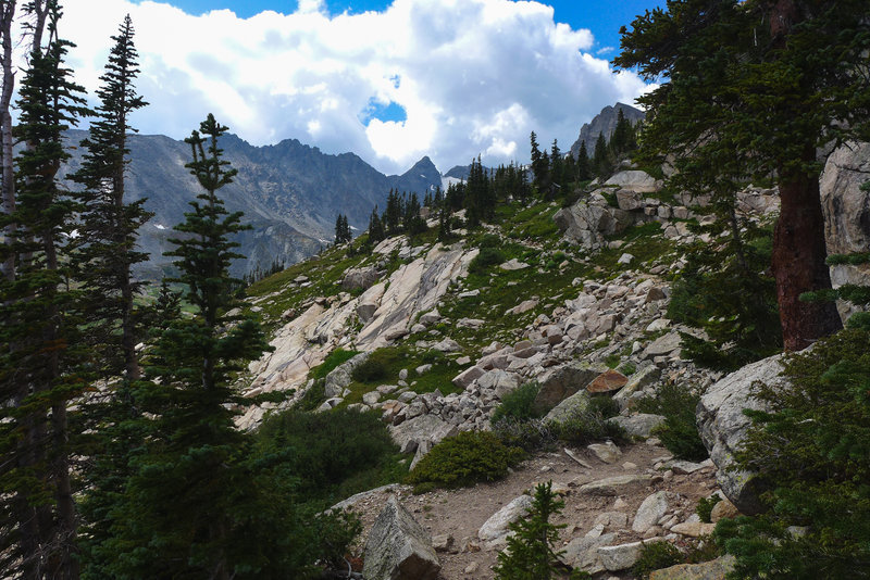 You can't go wrong on any of the trails around the Indian Peaks.