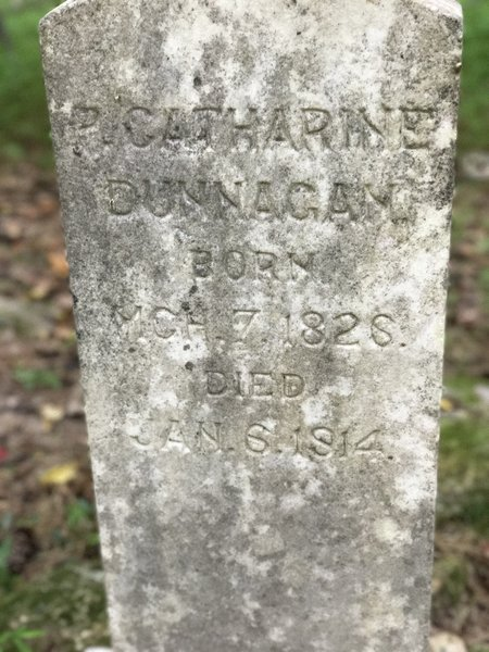 Grave stone from old family plot