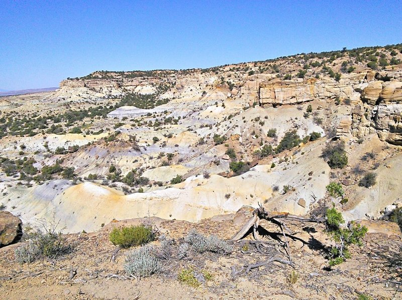 Looking down on painted desert