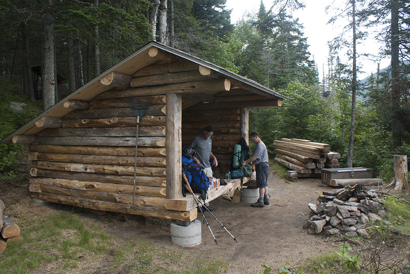 Wassataquoit Stream shelter on first night.