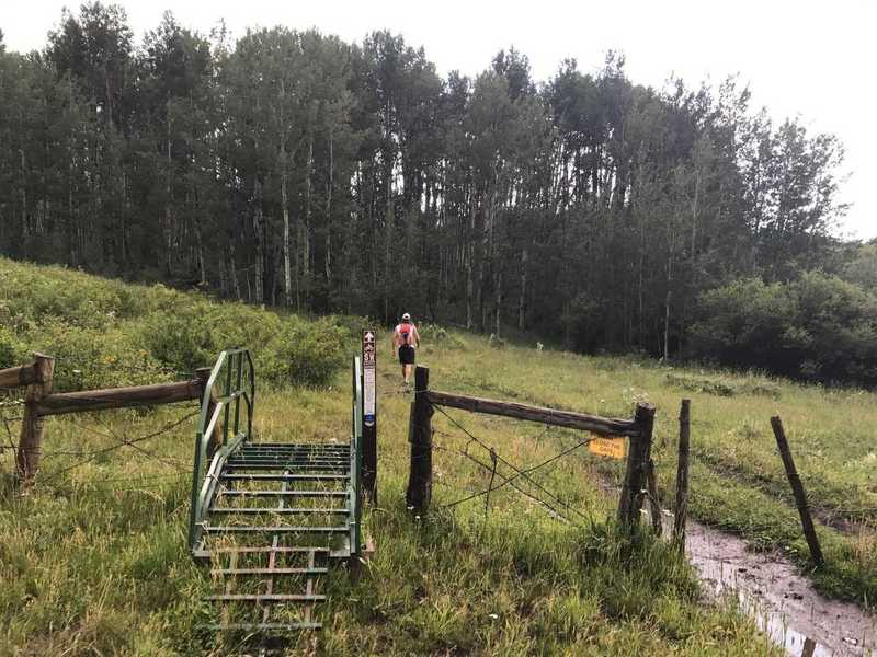 Trailhead for the Utah Trust Lands Singletrack